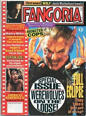 Fangoria Horror Magazine Issue # 129 December 1993