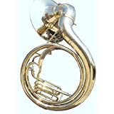 Natural Unlacquered Solid Brass Jumbo 24-inch Bell Sousaphone MI 084
