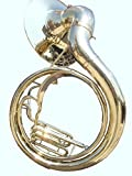 Global Art World Natural Unlacquered Solid Brass Jumbo 24-inch Bell Sousaphone MI 084