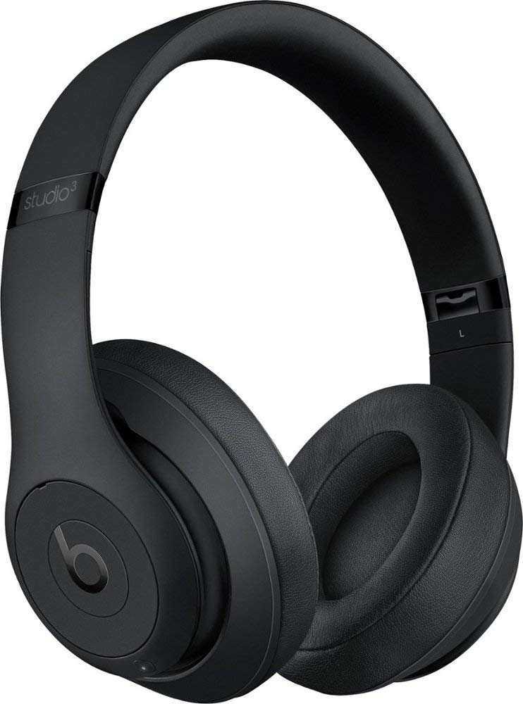 Beats Studio3 Wireless Bluetooth Over‑Ear Headphones with Universal USB Charging Cable and Carrying Case in Porcelain Rose