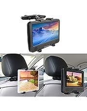 Tablet Halterung Auto Tablet Halter Kfz Kopfstützenhalterung Universal Handyhalter ipad Kopfstuetzen Halterung für ipad & Telefon & 4-11 Zoll Tablet Schwarz