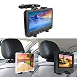 BEDEE Car Headrest Mount Holder for Tablet DVD Player Universal Holder Cradle Bracket with 360° Adjustable Rotatable for iPad Mini Samsung Galaxy Kindle Fire 7inch to 12'' Kid Tablets