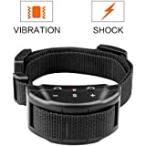 [New Model] Petiner Harmless No Bark Dog Training Collars Anti Bark Control With 7 Levels Button Adjustable Sensitivity Control Tone/vibration/shock For 15-120 Pounds Dogs