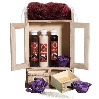 Brubaker Cosmetics 10 Pcs Beauty Gift Set Women Wooden Cabinet 5 Fragrances