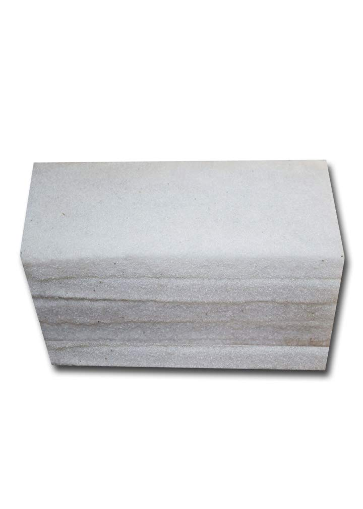 Commercial Light Duty Scrub Pad - 4.625'' x 10'' -White (Pack of 5)