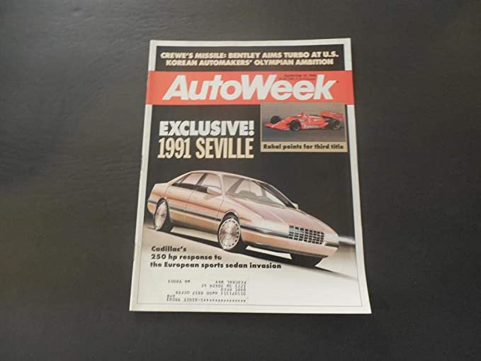 Auto Week Sep 12 1988 Turbo Bentley; Cadillac Seville (Not So Much)