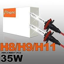 Engync® 35W H11(H16) Xenon HID Replacement Bulbs | HID Xenon Headlight Bulb Hi/Low Diamond White / Hyper White / Pure White Color (6000K)| 3 Years Warranty