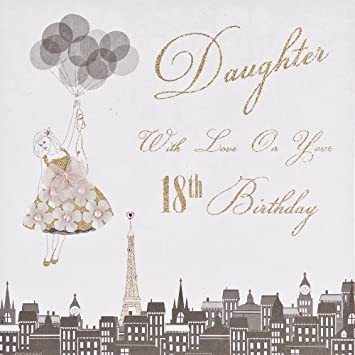 Quot Daughter With Love On Your 18th Birthday Handmade Card