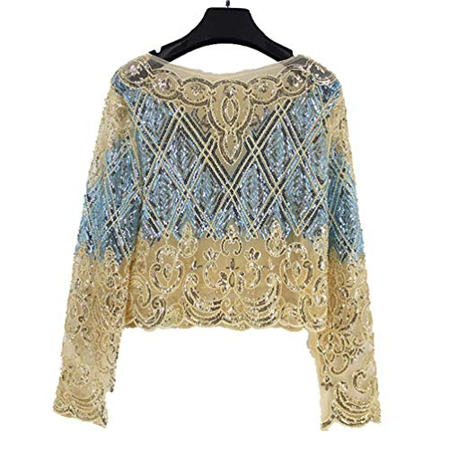 A Lavorate Taglia Unica Lunghe colore Con Maniche Yingsssq Top Pizzo In Dimensione Crochet Fiori Albicocca q8tOtw