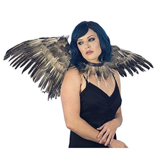 Zucker Feather NightOwl Wing and Choker Set - -