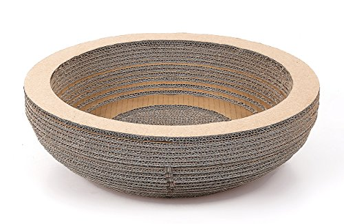 Onlypets Bowl Shaped Cat Scratcher Gift for Cat -15.75 X 4.33 Inch - Large, 13-16 pounds Cat