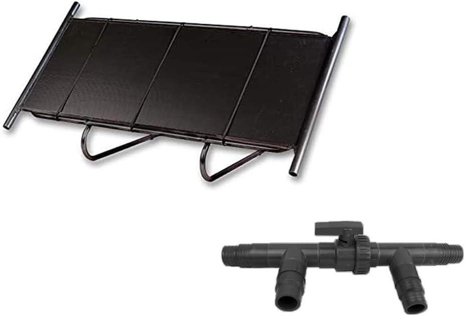 3-Wege Solarweiche = 0,9 m/² Anschluss-Set well2wellness/® Pool Solarheizung Solarmatte 0,6 x 1,5 m mit St/änder