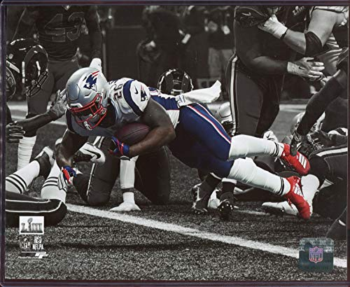 Sony Michel Officially Licensed New England Patriots 2019 Super Bowl 53 8x10 Photo with Toploader