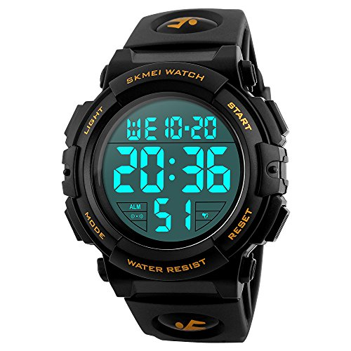 EOBP multi-function Sport watch 50M waterproof LED back light electronic watch student climbing wrist watch SKEMEI Men's digital (Performance Digital Sport Watch)