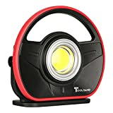 Toolsand Portable Cordless Rechargeable LED Worklight Floodlight, High Power (1000 Lumens)
