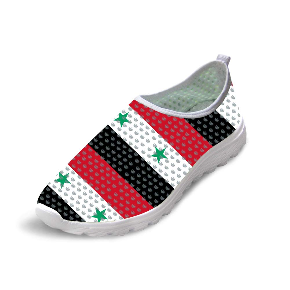 Owaheson Trail Runner Running Shoe Casual Sneakers Syrian Flag