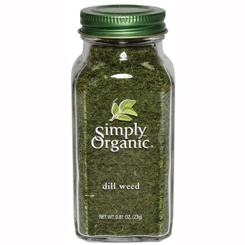 Simply Organic Dill Weed Cut & Sifted Certified Organic, 0.81-Ounce Containers (Pack of 3)