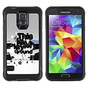 "Pulsar iFace Series Tpu silicona Carcasa Funda Case para Samsung Galaxy S5 V , Play Ground Cita Lema del arte divertido de energía"""