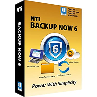 "NTI Backup Now 6 (5-PCs). The ""Best Buy"" Award-winning Backup Software for Office PCs"