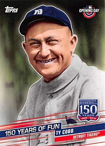 2019 Topps Opening Day 150 Years of Fun Set #YOF-1 Ty Cobb Tigers MLB Baseball Card NM-MT