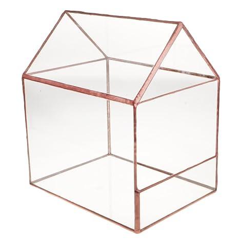 Amazon Com Fenteer Vintage Glass House Terrarium Geometric