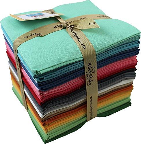 Lori Holt Confetti Cottons Designer Colors 27 Fat Quarter Bundle Riley Blake Designs FQ-LH120-27 by Riley Blake Designs