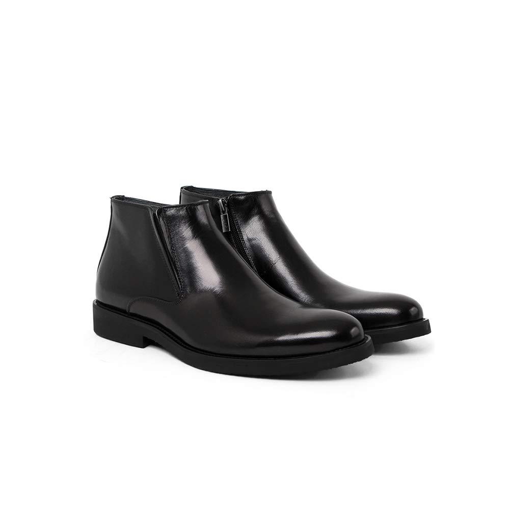 WHL.LL Herren Warm Warm Warm halten PU Stiefel aus Baumwolle Rutschfest wasserdicht Business-Stiefel Ärmel Spitz Stiefelies Draussen Zu Fuß Schneestiefel 13ae1f