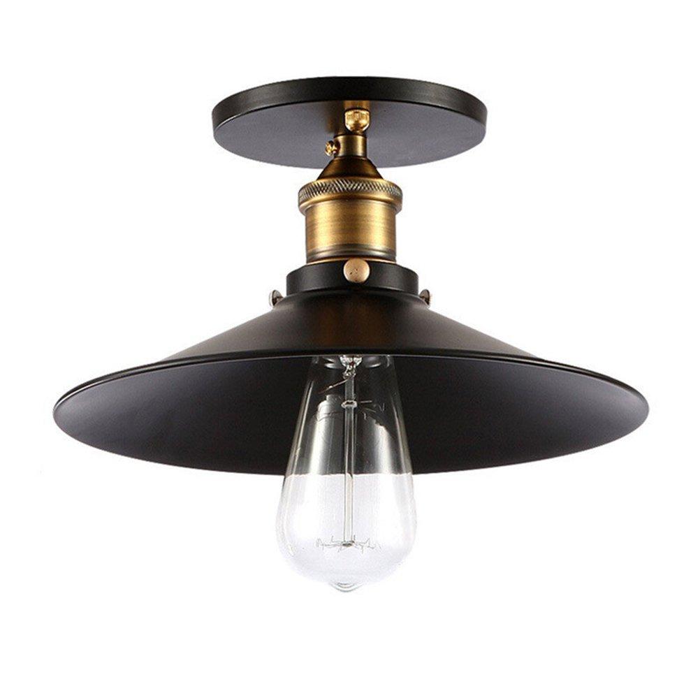 LEDMOMO Ceiling Light Retro Vintage Industrial Flush Mount Metal Ceiling Lamp for Kitchen Dining Room Bar Office Without Bulb