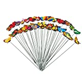 Juvale 50-Pack Butterfly Stakes - Butterfly Garden Decor, Decorative Outdoor Garden Stakes for Garden Planters and Flower Pots, Assorted Multicolored Designs, 11.81 x 2.76 Inches
