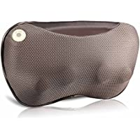 ROTAI Shiatsu Electric Neck Massager Portable Pillow with Heat