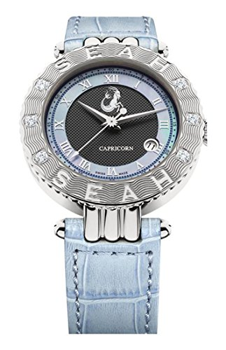 Seah-Empyrean-Zodiac-sign-Capricorn-Limited-Edition-42mm-Silver-Tone-Swiss-Made-12-carat-Diamond-watch