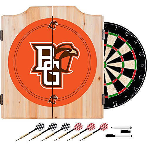Bowling Green University Deluxe Solid Wood Cabinet Complete Dart Set - Officially Licensed! by TMG
