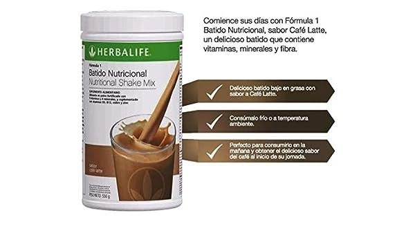 Amazon.com: Herbalife Formula 1 Healthy Meal Nutritional Shake Mix (10 Flavor) (Café Latte): Health & Personal Care