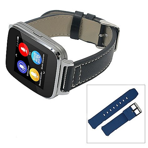 Beantech Smart Watch (Silver (Blue Sports Strap))