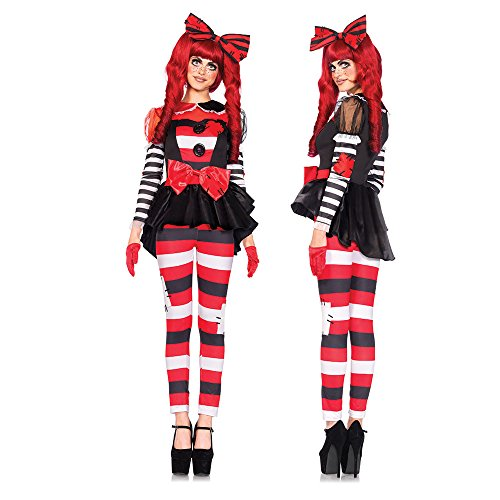 Leg Avenue Women's 3 Piece Rag Doll Costume, Multi, Small -