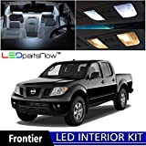 nismo nissan frontier - LEDpartsNow 2005-2015 Nissan Frontier LED Interior Lights Accessories Replacement Package Kit (5 Pieces), WHITE
