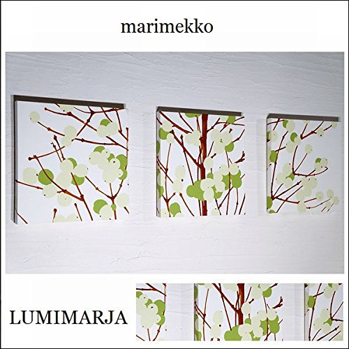 送料無料 ファブリックパネル アリス marimekko LUMIMARJAGREEN 30×30×2.5cm 3枚セット グリーン マリメッコ 人気アイテム プレゼント おすすめ 北欧 ルミマルヤ LUMIMARJA 【同梱可】 B0186OXNIM