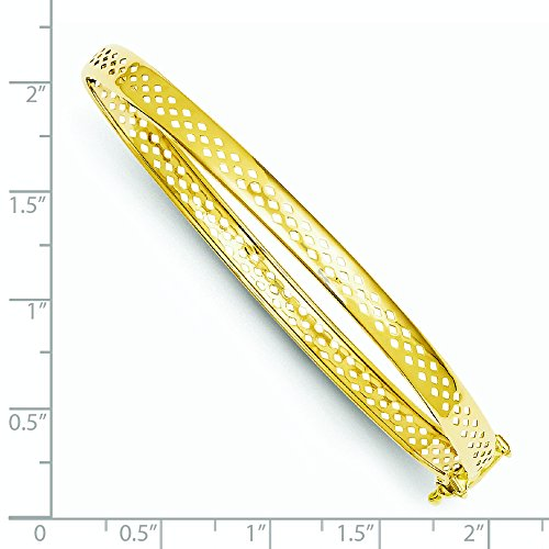 Fermoir de sécurité poli 14 carats JewelryWeb Bracelet 12 mm