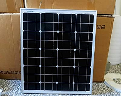Best Cheap Deal for GOWE 50W 18V monocrystalline silicon Solar Panel used for 12V photovoltaic power home system, 50Watt 50WP 12VDC PV mono solar Module by Gowegroup - Free 2 Day Shipping Available