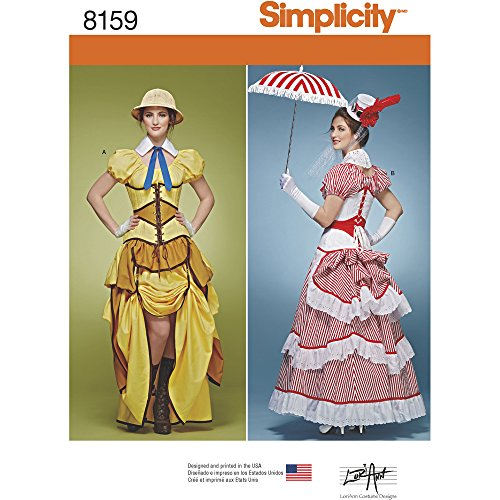 Simplicity Creative Patterns 8159 Misses' Cosplay Costumes with Corsets, R5 (14-16-18-20-22) - Diy Corset Costume