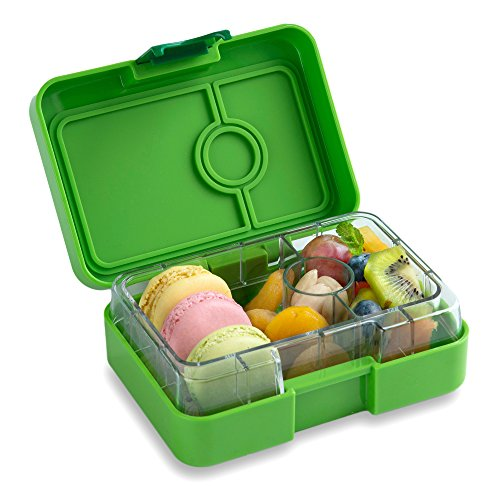 YUMBOX MiniSnack Leakproof Snack Box (Avocado Green); Bento-style snack box offers Durable, Leak-proof, On-the-go Meal and Snack Packing by Yumbox