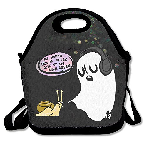 [Bekey Undertale Ghost Lunch Tote Bag Lunch Box For Women Adults Kids Girls For Travel School Picnic Grocery] (Raptor Costume Runescape)