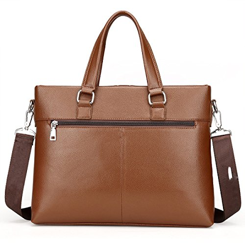 Bag Horizontal Package File Bag Brown Computer Leather Section Bag Briefcase Men tnwYaCqt
