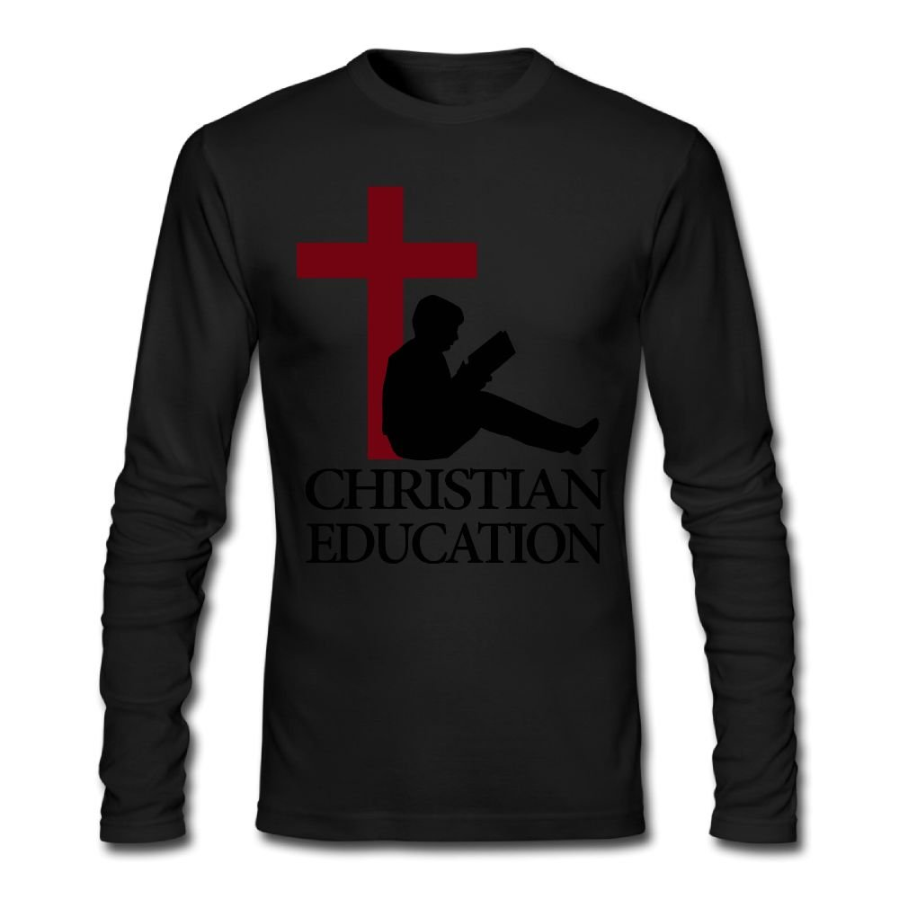 Christian Education Mens Tshirt, Long Sleeve Bottoming Shirt Overclothes For Men | Amazon.com