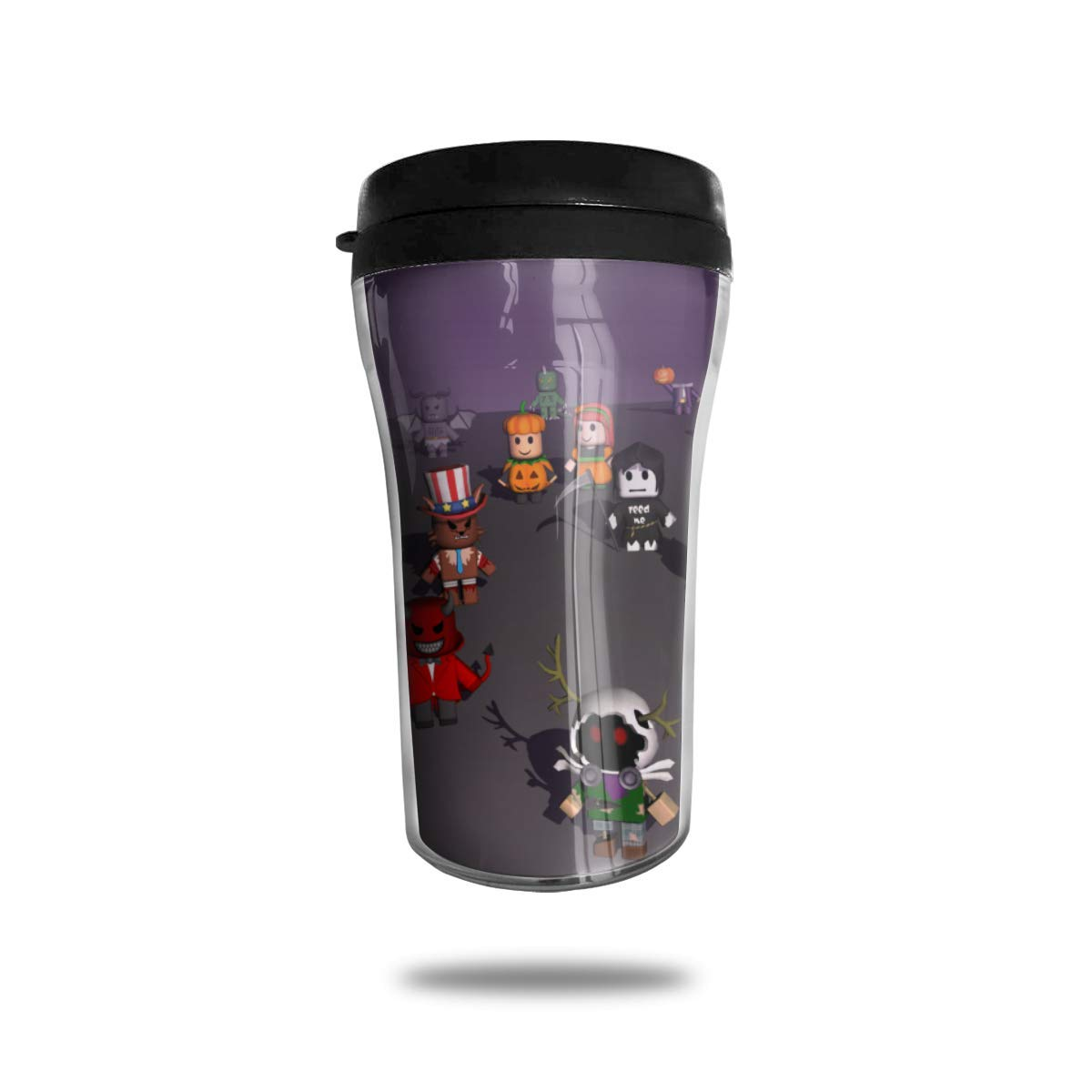 Ro-bl-ox Travel Coffee Mug Double Wall Insulated Coffee Cup Mini Travel Car Mug Water Bottle Taza de café