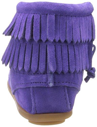 Stivali Double Bambini Unisex Minnetonka Viola Purple Zip Side Mocassini Fringe xIqdaqg