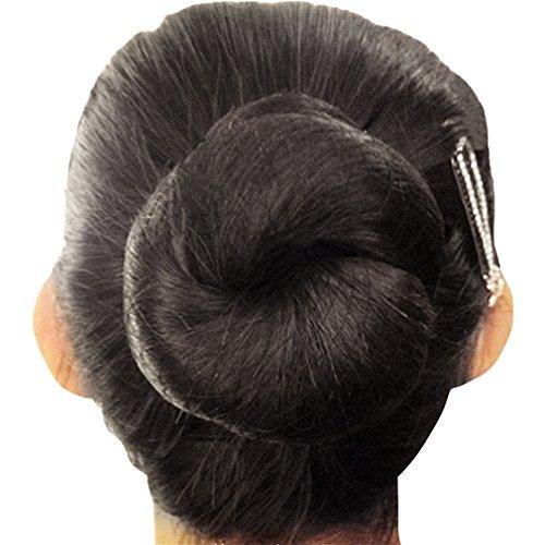 Price comparison product image KKTech Pack of 10pcs Hair Nets Invisible Elastic Edge Mesh 50cm(10pcs) (Black)