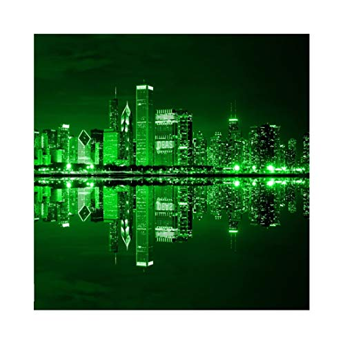 Yeele 9x9ft Vinyl Photography Background St Patricks Day Traditional Symbols Night View City Green Light Photo Backdrops St. Patrick's Day Spring Pictures Photoshoot Studio Props]()