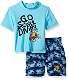 Kiko & Max Boys Set With Short Sleeve Rashguard Swim Shirt