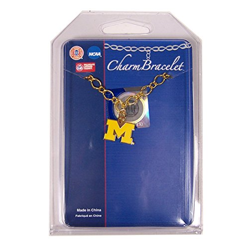 WinCraft NCAA University of Michigan 48403013 Bracelet with Charms Clamshell